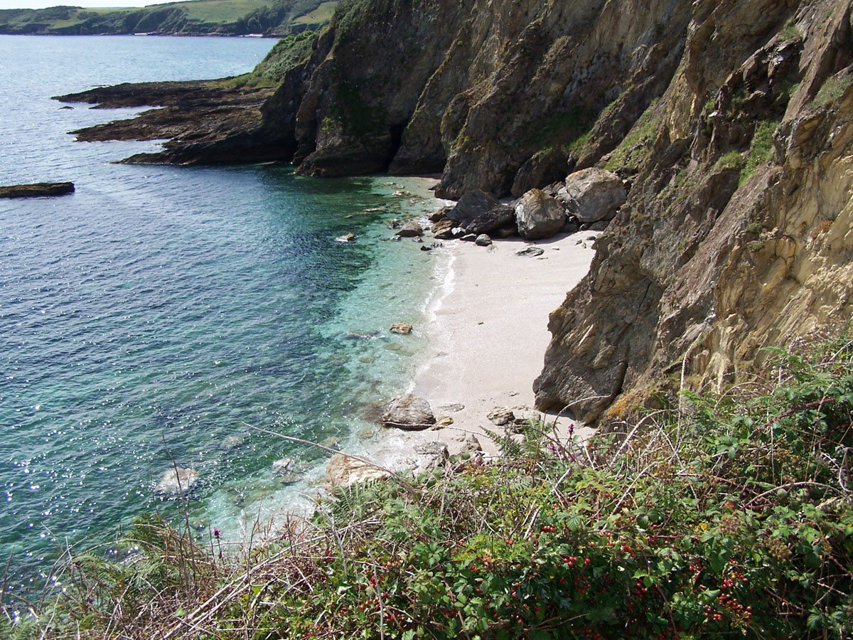 One of the many private beaches in Cornwall.